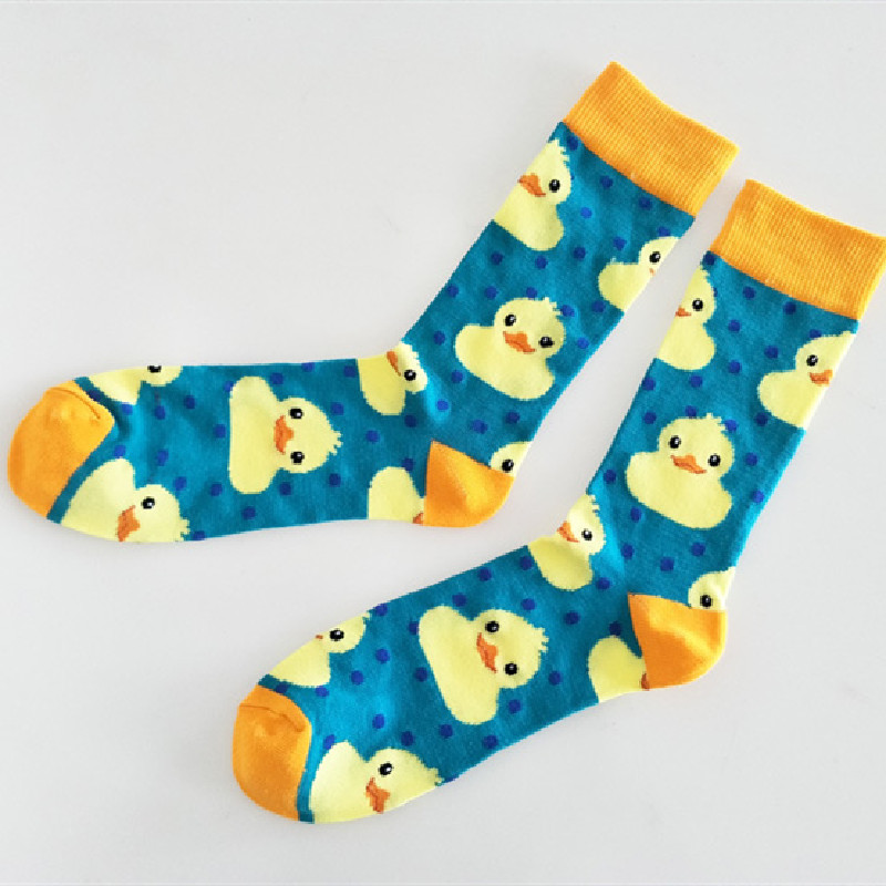 New Cute Cartoon Duck Couple Socks Sweet Socks Tube Socks Ladies Tide Socks