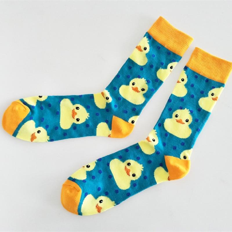 New Cute Cartoon Duck Couple Socks Sweet Socks Tube Socks Ladies Tide Socks
