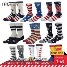 Socks Sport Sock for Men USA Flag Star Skate Socks