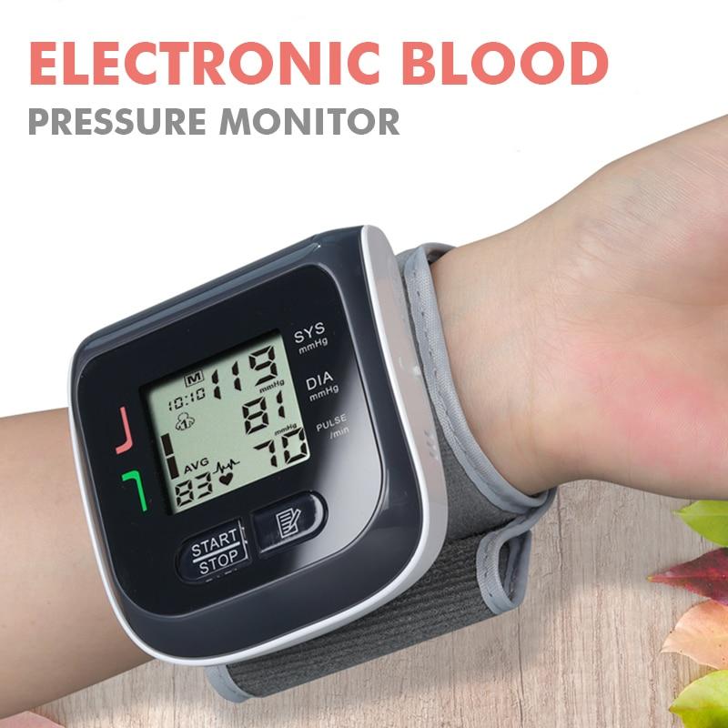 New Medical Equipment Wrist Blood Pressure Monitor Tonometer Family Health Machine Apparatus Electronic Wrist Blood Pressure