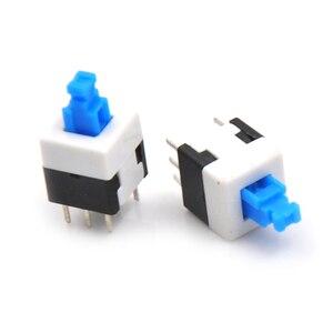 10PCS 6 Pin 8 * 8 latching switch Button switch double row self-locking