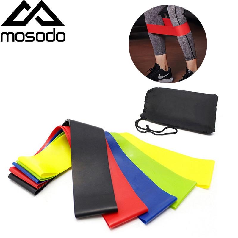 Mosodo Resistance Bands Yoga Band Workout Kit Exercise Loop Rubber Elastic Band Home Gym Pilates Training Fitness Equipment Kit(China)