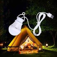 5V LED ampolletas led camping 5W USB bombilla de luz portátil de Camping lámpara colgante de linternas para senderismo tienda de viaje trabajo con Banco de energía portátil
