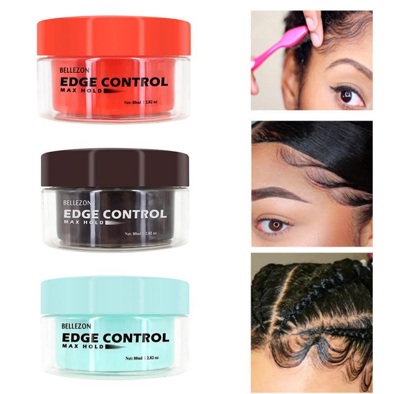 1pcs Hair Fixative Gel 3 Colors Hair Oil Wax Cream Edge Control Broken Hair Finishing Hair Styling Cream Finishing Anti-Frizz