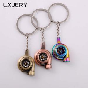 LXJERY 7 Colors Car Turbo Keychains Women Bag Pendant Keyrings Men Kids Toy Key Holder Gift