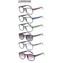 Men Round Reading Glasses Women Wood Look Frame Sunglasses readers Vintage Spring hinge diopter 1 1.25 1.5 1.75 2 2.25 2.5 3 3.5