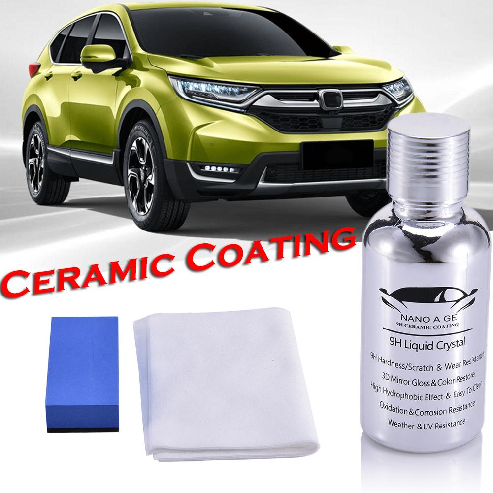 Nano Car Coating Liquid Glass 9H Crystal Hardness Polish High Gloss Bond Ceramic Dropship
