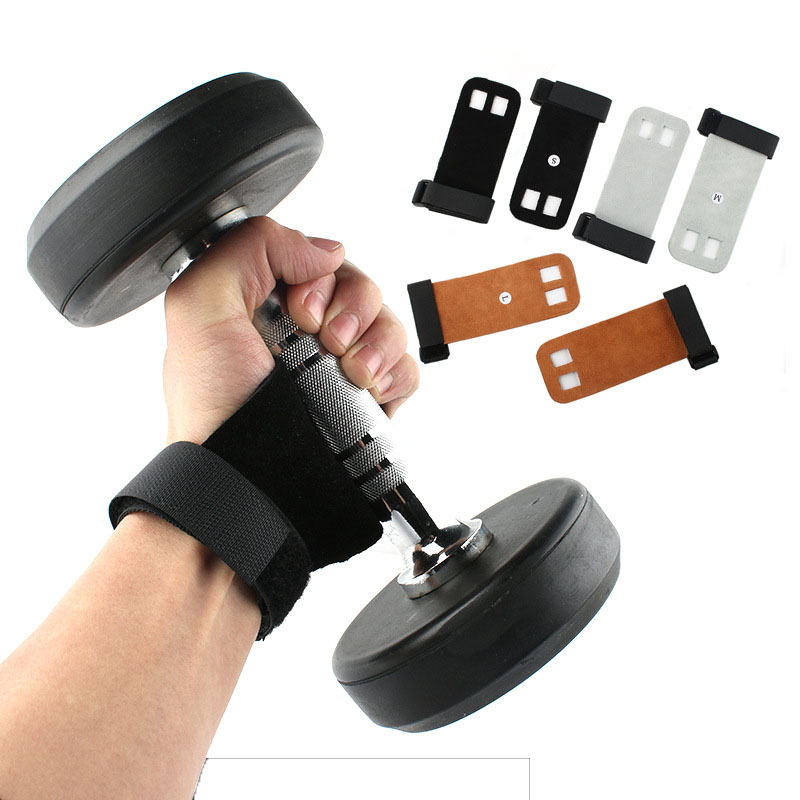 1 Pair Protectors Glove Hand Grip Synthetic Leather Crossfit Gymnastics Guard Palm Pull Up Bar Weight Lifting Glove Gym Gloves