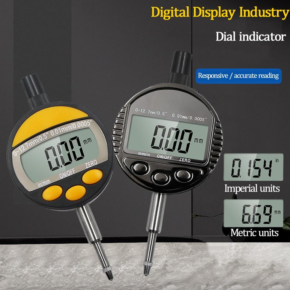 Digital Mechanical Dial Indicator 0-12.7mm / 0.01mm Electronic Micrometer Micrometro Metric / Inch Dial Indicator Gauge