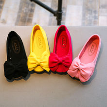 Lovely Children Kid Girls Princess Shoes Kids Bow Single Dance