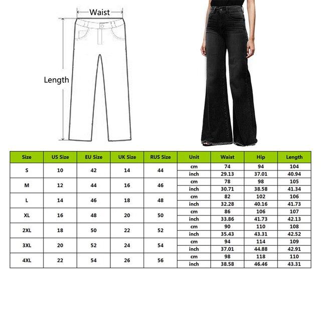 2020 High Waist Wide Leg Jeans Brand Women Boyfriend Jeans Denim Skinny Woman's Vintage Flare Jeans Plus Size 4XL Pant 6