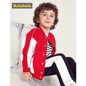 Image 5 - Balabala Kids Boys Contrasted Bomber Jacket Baseball Jacket Children Toddler Boys Spring Autumn Jacket Outwear Clothes Clothing