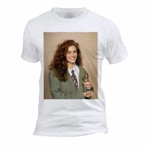 T Shirt Homme Col Rond Julia Roberts Award Pretty Woman Actrice Star Cinema