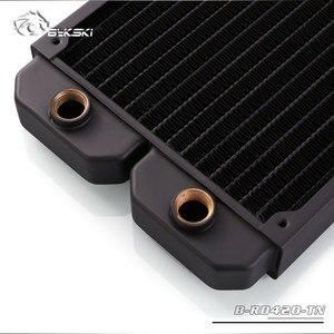Image 5 - Bykski B RD420 TN, однорядные радиаторы 420 мм, толщина 28 мм, стандартные радиаторы водяного охлаждения, подходят для вентиляторов 140*140 мм