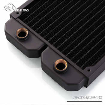 Bykski B-RD420-TN, 420mm Single Row Radiators, 28mm Thickness, Standard Water Cooling Radiators , Suitable For 140*140mm Fans