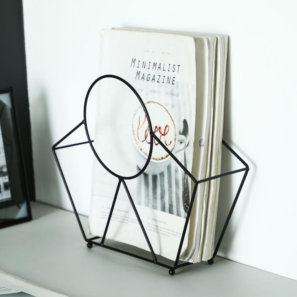 Iron Magazine Storage Rack Kitchen Snack Storage Basket Desktop Clothing Basket Hanging Book Storage Frame