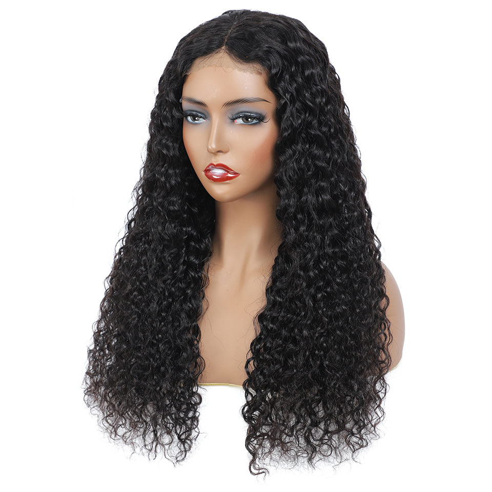 Real Women Water Wave Wig Lace Closure  Wigs Pre Plucked 30inch 4X4 Lace Closure Wig 180% Density  Wig 4