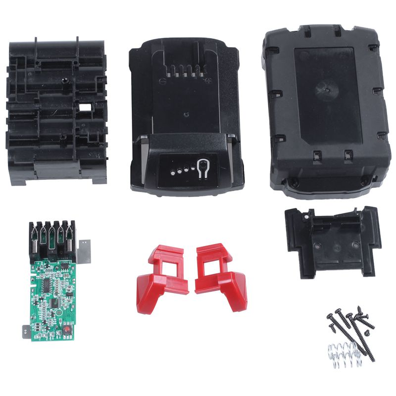 AAAE Top-M18B Li-Ion <font><b>Battery</b></font> Plastic <font><b>Case</b></font> Charging Protection Circuit Board For Milwaukee 18V <font><b>M18</b></font> 48-11-1815 3Ah 4Ah 5Ah PCB Boa image