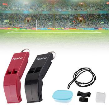 цена на Sport Whistle Lanyard Loud Sound Whistle Referee Soccer Football Basketball Whistle Classic Referee Cheerleader Whistle