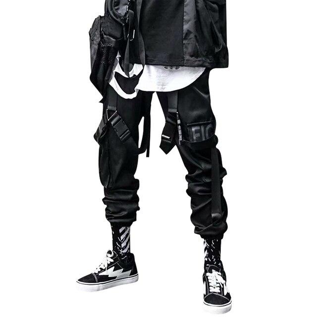 Calça casual dos homens carga calça hip hop corredores streetwear moda sweatpant sportwear pantalon homme 2020 calças 2