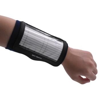 Przenośny asystent treningowy piłka nożna piłka nożna taktyka deska nadgarstek rękaw krotnie przezroczysta osłona przydatna tablica szkolna nowość tanie i dobre opinie Adult CN (pochodzenie) Elastic fabric Tactics Board Wristband