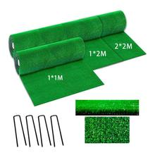 Green Artificial Lawn Simulation Grass Mat Lawn Rug Fake Turf With Steel Rivets Home