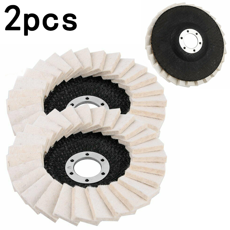 2020 New 2Pcs 5Inch 125mm Round Polishing Wheel Felt Wool Buffing Polishers Pad Buffer Disc For Angle Grinder Polishing Discs