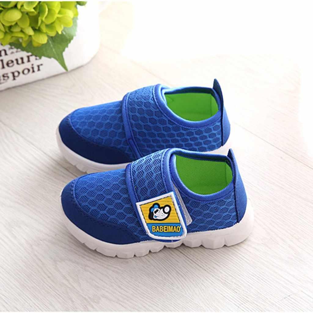 Yürüyor bebek çocuk bebek kız erkek karikatür örgü Run spor gündelik ayakkabı ayakkabı Детская Обувь çocuk ayakkabı erkek ayakkabı