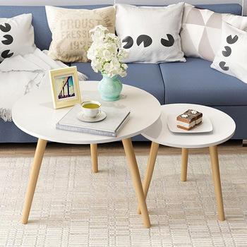 Twórczy Nordic drewna niski okrągły stolik stolik stolik herbata owoce przekąska serwis płyta taca biurko Sofa do salonu stolik tanie i dobre opinie Mrosaa CN (pochodzenie) Montaż Meble do domu Meble do salonu 50X50X50CM Europa i ameryka Nowoczesne SD-36 ROUND Drewniane