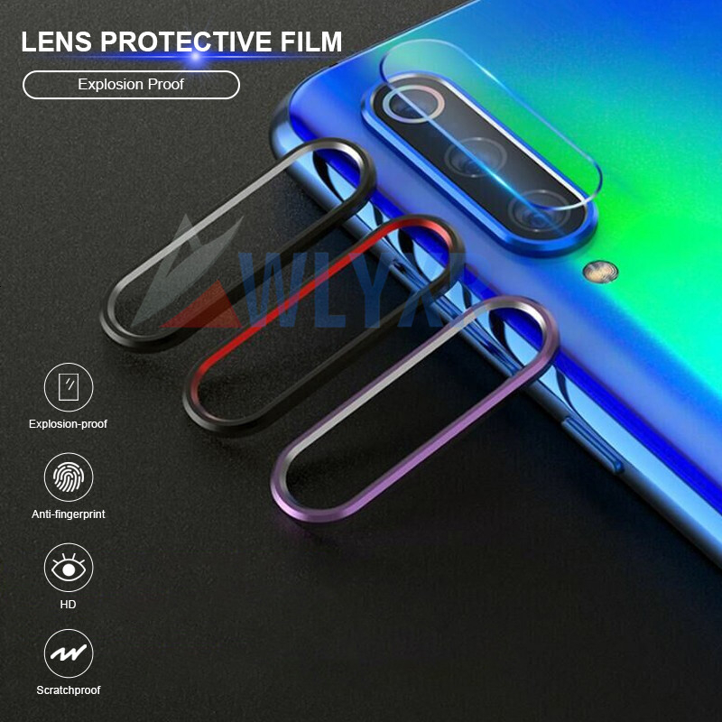 Tempered Glass + Metal Protection Ring For Xiaomi Redmi Note <font><b>8</b></font> 7 Pro K20 <font><b>Camera</b></font> Lens HD Screen Protector For <font><b>Mi</b></font> 9 9T Cover Film image