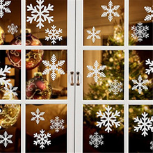 27pcs/set Frozen Party Christmas Snowflake Window Sticker Kids Room Clear Doors Home New Year Decoration
