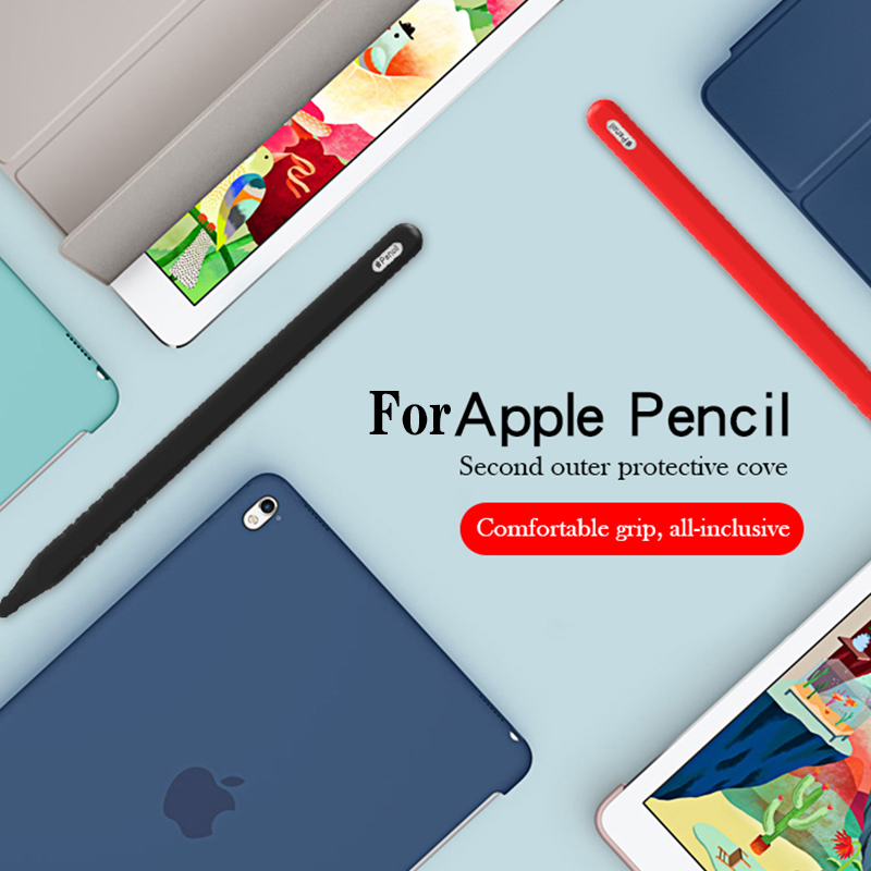 Silicone Sleeve Cap Tip Cover Holder Tablet Touch Pen Stylus Pouch Sleeve For Apple Pencil 2 Generation Case For IPad Pencil 2th