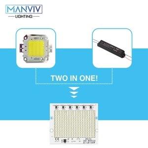 Image 3 - 5 SMD LED שבב 10W 20W 30W 50W 100W 230V מנורת שבב לא צריך נהג DIY LED הנורה מנורת LED הארה זרקור קר חם לבן