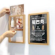 A4 настенная натуральная деревянная рамка для плаката фото картина DIN A4 деревянная рамка