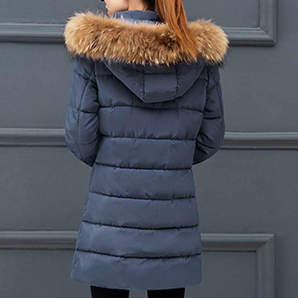 韓国女性パーカー Mujer 2019 冬のパーカーの女性毛皮の毛の襟ジップコットンが詰めパーカー生き抜くコートファムパーカー女性のための