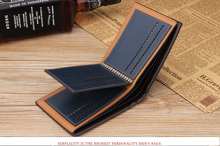 Hfa45362b9638412b9d1b74e29386033ce - NO.ONEPAUL Genuine Leater men short wallet business retro cross section embossed Credit card holder fashiong wallets men purses