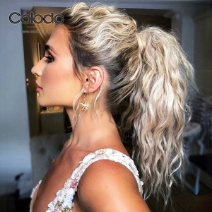 COLODO Ombre Ice Blonde Lace Front Wig Remy Brazilian Prepluckd Full Lace Wig Transparent Lace Human Hair Wigs for Women