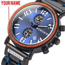 Get more info on the BOBO BIRD Multi-function Wood Watch Men Waterproof Wristwatch Luminious relogio masculino Anniversary gifts Engrave name on band