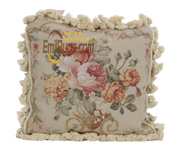 Seat Cushions For Chairs Dining White Cotton Cushion Covers woolen woolenen Needlepoint Handmade Pillows-rose And Bud