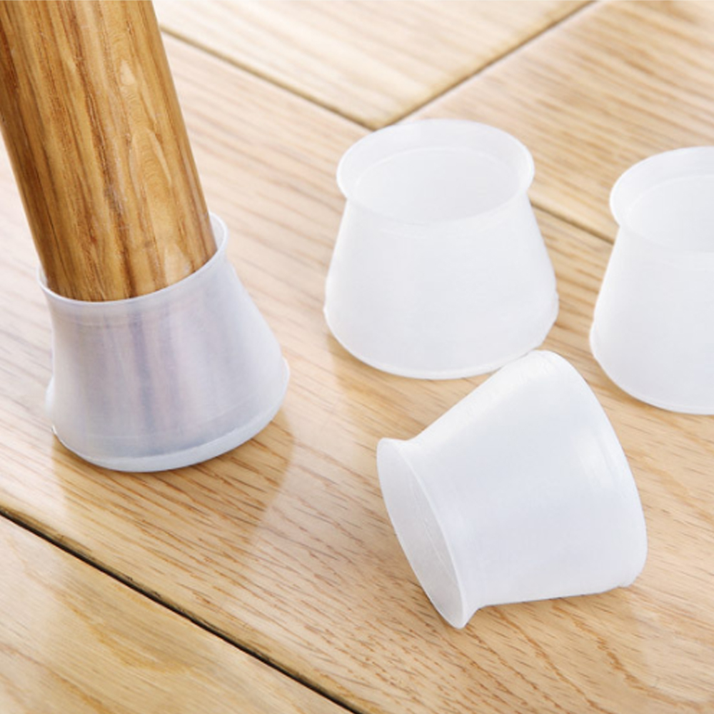 4pcs Furniture Table Chair Leg Floor Feet Cap Cover Protector Feet Pads Non-slip Silicone Table Chair Leg Caps Foot Protection