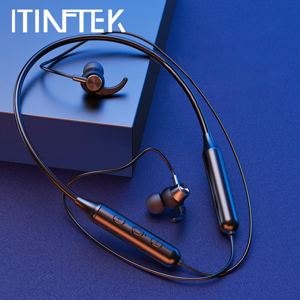 Auriculares TWS inalámbricos con Bluetooth 5,0, dispositivo deportivo magnético de Metal para correr, auriculares a prueba de agua con reducción de ruido
