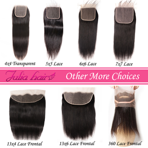Image 5 - Brazilian Straight Lace Closure Free Part 150% Density Julia Lace Closure Pre Plucked If Middle/Three Part Closure Contact US