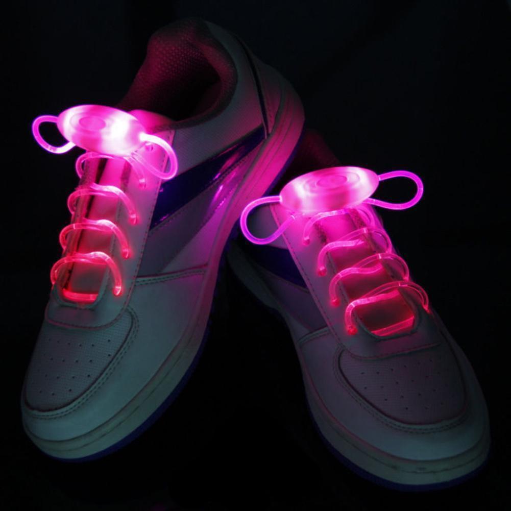 2020 LED Flash Luminous Light Up Glow Strap Shoelace Shoe Laces Party Disco Decor Free Shipping