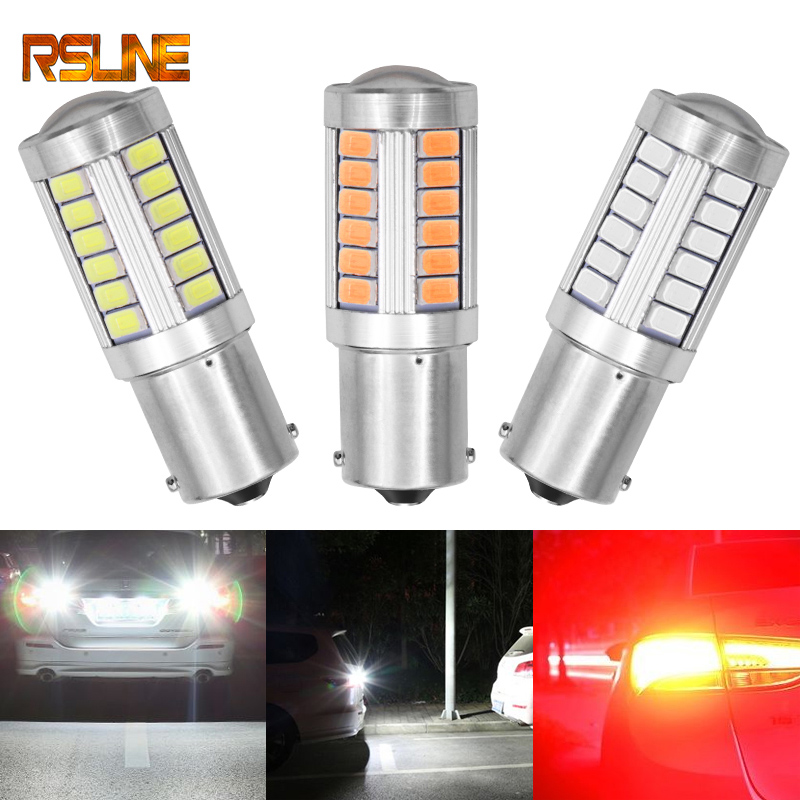 1156 P21/5W BAY15D Super Bright 33 SMD 5630 5730 LED auto brake <font><b>lights</b></font> fog lamp 21/5w car <font><b>daytime</b></font> <font><b>running</b></font> <font><b>light</b></font> stop <font><b>bulbs</b></font> 12V image