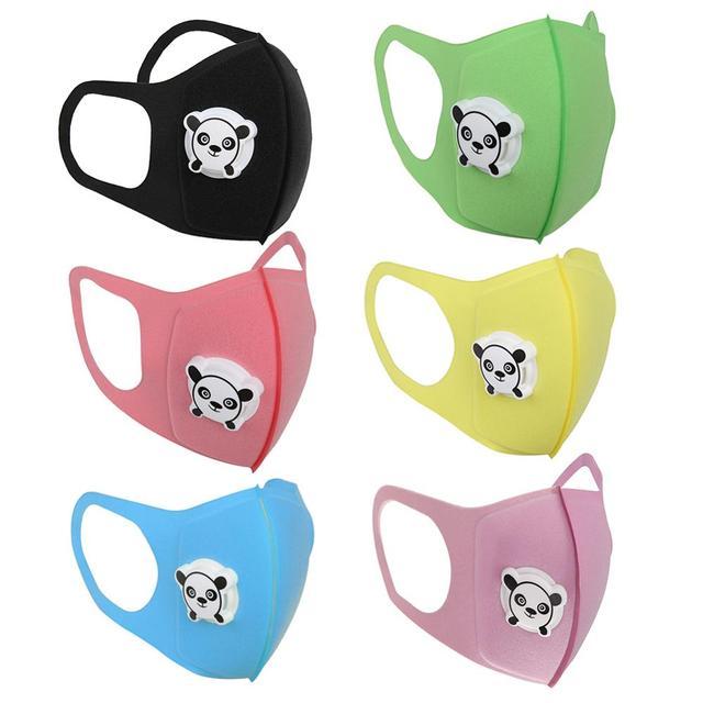 Cartoon Children PM2.5 Mouth Mask Kids Washable Valve Anti Haze Breathable Mask Anti Dust Mouth-Muffle Respirator Face Masks