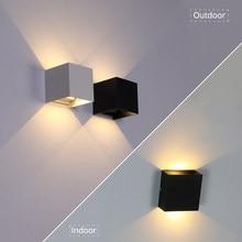 Lampe d'éclairage murale LED pour décoration intérieur et extérieur, appareil en aluminium pour jardin, chevet de chambre et maison, étanche IP65, 6 W/10 W