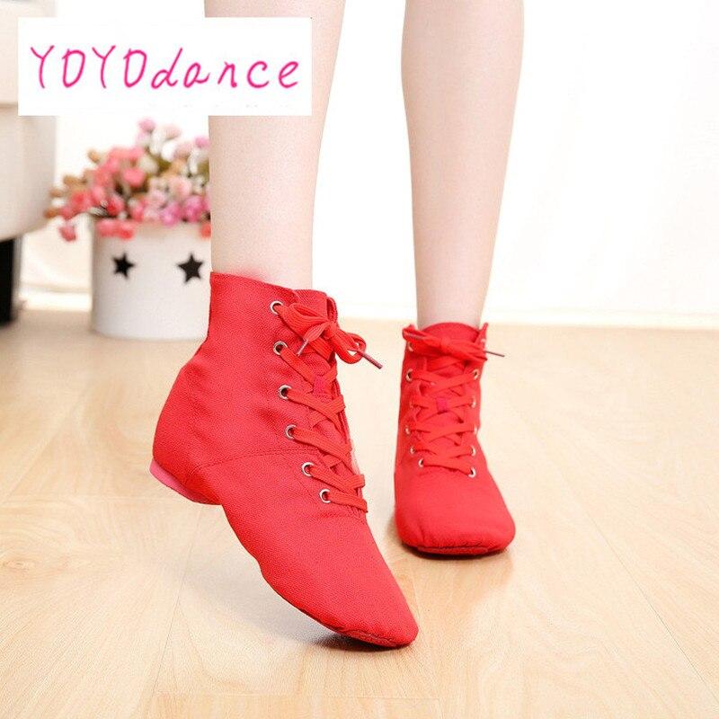 Split Sole Dancing Shoe Black Red White Green Ivory Khaki Pink Blue Athletic Men Women Boys Girls Canvas Jazz Dance Shoes