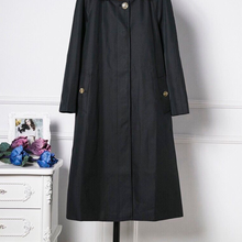 2021 women's windbreaker in the middle of the new long hooded coat trench