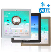 Casa nova mini wifi bluetooth tela de toque na parede áudio música centro amplificador de som tv tablet inteligente digital estéreo fm amplificador