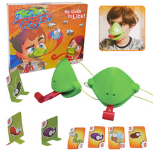 Interesting Frogs Lizard Stick Out Tongue Toy Kids Gift Children Adults Table Interactive Toys Party Card Game Props